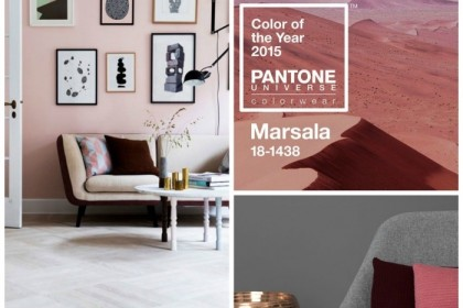 Colour of the year 2015: brown-red shade, alias Marsala
